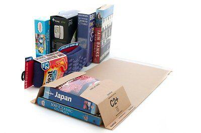 200 x Bukwrap DVD Book Wrap Postal Mailers C2 260x175mm Amazon Style Wrapper