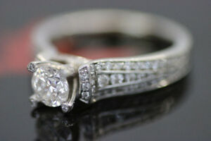 **BRILLIANT CUT** 14kt White Gold Ladys Diamond Ring (#17063)
