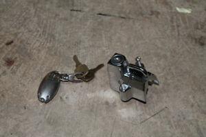 Harley engine guard helmet lock
