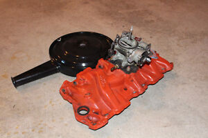 Intake Manifold, carb and air cleaner