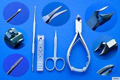 Eckenfeile Fusspflege Nagelknipser Nagelhautschere Kopfschneider 4er Set