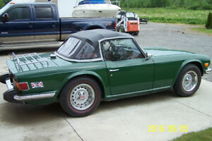 75 TR6  with overdrive excellent shape - Certified