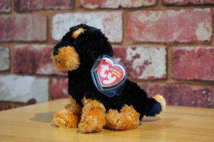 TY BRUTUS the ROTTWEILER BEANIE BABY - MINT with MINT TAG