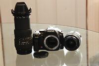 DSLR Pentax K-m (k-2000) + 18-55mm + 55-200mm + Accessories