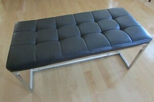 black and chrome coffee table or bench