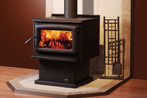 New Wood Stoves, inserts and fireplaces in crates great prices