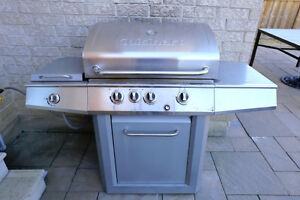Stainless steel natural gas barbecue