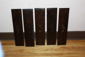 5 x solid pine drawer fronts 6 3/4 x 28 inches