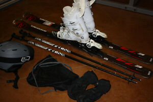 Complete almost new ski package.