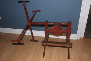 Antique Yarn Winder ( also have Carding Tools )