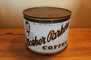 Vintage Mother Parker's Coffee Tin