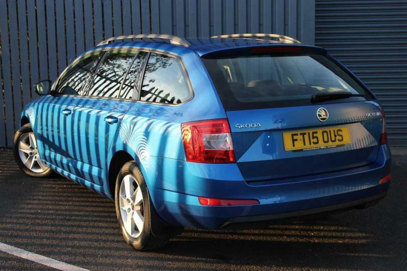 2015 skoda octavia 1.6 tdi (110ps) se dsg 5-dr estate diesel blue