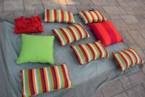 Deck pillows, brand new -- only used one day
