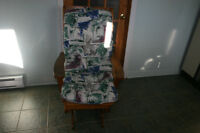 Wood Gliding Chair with thick cushion