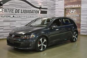 2016 Volkswagen Golf GTI AUTOBAHN+GPS+CUIR+TOIT OUVRANT+MAGS
