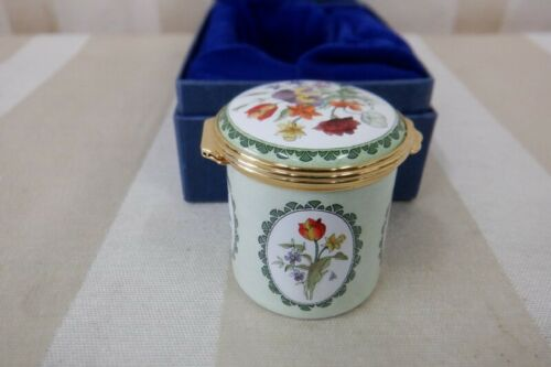 "NIB-Halcyon Days Enameled Box ""Florals"" Winterthur Rare Book Collection"