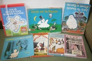 HALLOWEEN-Vintage Childern's BOOKS-Witches-Ghosts-GUS-Readers