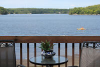 Spacious 4 bedroom cottage with private beach in back yard!