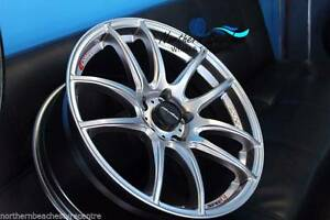 18X8.5 LENSO SPEC E 5 STUD 5X114.3 ET+35 18 WHEELS ONLY JDM SILVE Brookvale Manly Area Preview