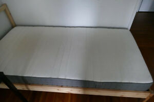 IKEA - Bed frame with memory foam mattress for $200