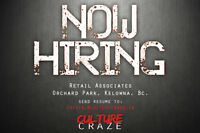 Retail Sales Associates Required