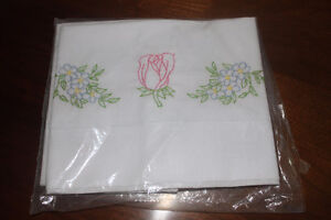 New Hand Embroidered Pillow Cases