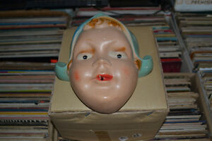 Very Old Chalkware Woman;s Face Angel Nun Wall Hanger Mask Windsor Region Ontario image 1