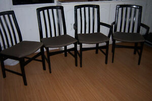 Set of 4 Black Dining Chairs