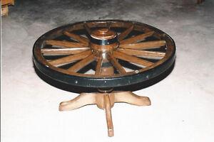 Authentic Wagon Wheel Coffee Table