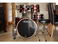 PRICE DROP Mapex 5 PC Drumkit - gig ready with cases!