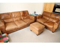 Real leather dfs sofa