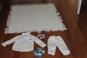 White Baptism clothes for boy