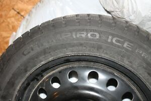 4 New snow tires on steel rims 225/60/17 on 5x114.3