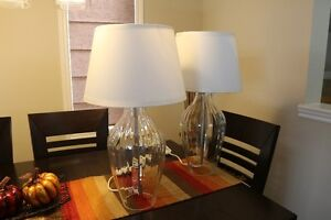 Two IKEA table lamps