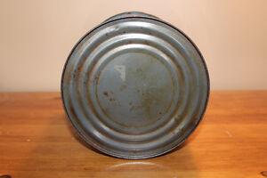 Old Antique Large Blue Quebec Honey Tin London Ontario image 7
