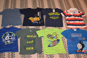 Boys 2T t-shirts and shorts & summer pajamas