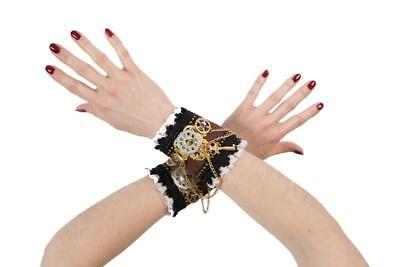 Retro Cyber Steampunk Piraten Armmanschette Handstulpen Kostüm Kleid Hut Brille