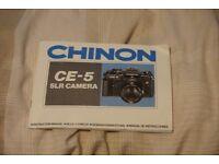 Chinon CE-5 35mm slr camera