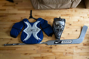 Hockey balle ball gardien goalie masque plastron kit