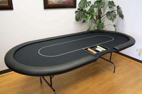 """MRC 10 Players 96"""" Folding Legs Black Color Poker Table C 35-96"""