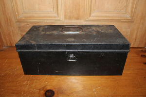 Old Tin Document Box London Ontario image 1