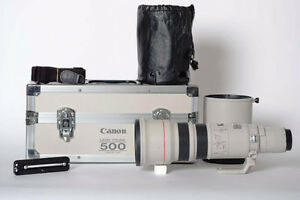 Canon 500 mm f4.5 camera lens