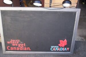 LIGHTED MOLSON CANADIAN DISPLAY BOARD 4`X5`
