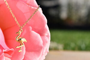 Gold Flamingo Necklace- Brand New & Etsy Shop Necklace