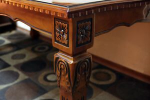 Super Fancy Ornately Carved Modern Dining Set SEE VIDEO