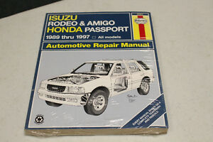1989-1997 ISUZU RODEO & AMIGO HONDA PASSPORT REPAIR MANUAL