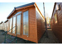 NEW 2018 Sunrise Lodge Deluxe   Timber Mobile Log Cabin Home   Static Annexe