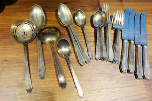 Near Complete Set of Rogers Bros 1847 Stainless Tableware