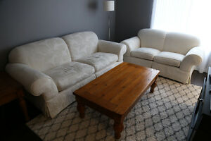 2 Matching Couches - White