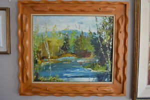 LARGE FERNAND LABELLE OIL PAINTING 20 X 24 inches SIGNED
